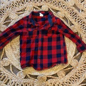 H&M 12-18M Plaid Button Down Shirt